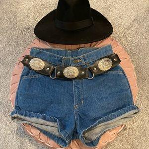 Vintage High Waisted Denim Jean Shorts